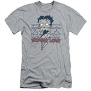 Betty Boop Slim Fit Shirt Zombie Pinup Athletic Heather T-Shirt
