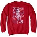 Betty Boop Sweatshirt Boop Ball Adult Red Sweat Shirt