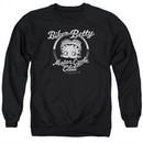 Betty Boop Sweatshirt Chromed Logo Adult Black Sweat Shirt