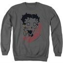 Betty Boop Sweatshirt Classic Zombie Adult Charcoal Sweat Shirt