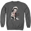 Betty Boop Sweatshirt Out Of Control Adult Charcoal Sweat Shirt