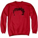 Betty Boop Sweatshirt Word Hair Adult Red Sweat Shirt