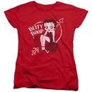 Betty Boop Womens Shirt Boop Ball Red T-Shirt