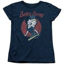Betty Boop Womens Shirt Team Boop Navy Blue T-Shirt