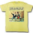 Bill And Ted Shirt Come Along Yellow Tee T-Shirt