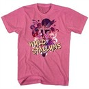 Bill And Ted Shirt Wild Stallyns Pink Heather T-Shirt