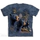 Black Bears Shirt Tie Dye Adult T-Shirt Tee