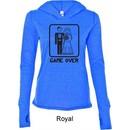 Black Game Over Ladies Tri Blend Hoodie Shirt