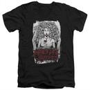 Black Veil Brides Slim Fit V-Neck Shirt Coffin Queen Black T-Shirt