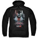 Bloodshot Hoodie Blood Lines Black Sweatshirt Hoody