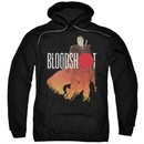 Bloodshot Hoodie Orange Glow Black Sweatshirt Hoody