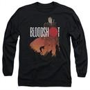 Bloodshot Shirt Orange Glow Long Sleeve Black Tee T-Shirt
