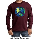 Blue Earth Peace Kids Long Sleeve Shirt