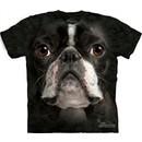 Boston Terrier Shirt Tie Dye Dog Face T-shirt Adult Tee