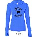 Bovine University Ladies Tri Blend Hoodie Shirt