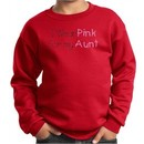 Breast Cancer Kids Sweatshirt I Wear Pink For My Aunt Red Sweat Shirt