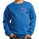 Breast Cancer Kids Sweatshirt Wear Pink For My Aunt Royal Sweat Shirt