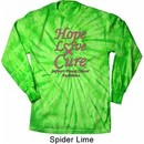 Breast Cancer Tee Hope Love Cure Long Sleeve Tie Dye