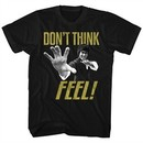 Bruce Lee Shirt Don't Think Feel Black T-Shirt