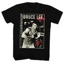 Bruce Lee Shirt Flexing Black T-Shirt