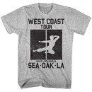 Bruce Lee Shirt West Coast Tour Athletic Heather T-Shirt