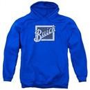 Buick Hoodie Distressed Emblen Royal Blue Sweatshirt Hoody