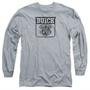 Buick Long Sleeve Shirt 1946 Emblem Athletic Heather Tee T-Shirt