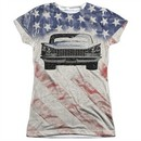 Buick Shirt 1959 Electra Flag Sublimation Juniors T-Shirt Front/Back Print