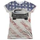 Buick Shirt 1959 Electra Flag Sublimation Juniors T-Shirt