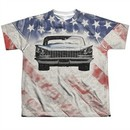 Buick Shirt 1959 Electra Flag Sublimation Youth T-Shirt Front/Back Print