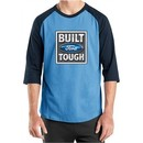 Built Ford Tough Shirt Logo Mens Carolina Blue/Navy Raglan Tee T-Shirt