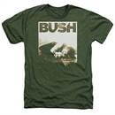 Bush Shirt Floored Heather Military Green T-Shirt