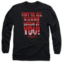 Carrie Long Sleeve Shirt Laugh At You Black Tee T-Shirt
