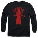 Carrie Long Sleeve Shirt Silhouette Black Tee T-Shirt