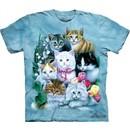 Cat Shirt Tie Dye Fly Kittens T-shirt Adult Tee