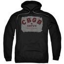 CBGB Hoodie Crumbled Logo Black Sweatshirt Hoody