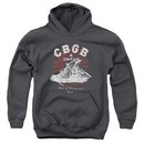 CBGB Youth Hoodie High Top Shoes Charcoal Kids Hoody