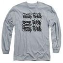 Cheap Trick Long Sleeve Shirt Logo Athletic Heather Tee T-Shirt