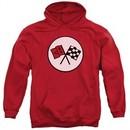 Chevy Hoodie Chevrolet 2nd Gen Vette Logo Red Sweatshirt Hoody
