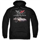 Chevy Hoodie Corvette Checkered Past Black Sweatshirt Hoody
