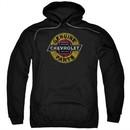 Chevy Hoodie Genuine Parts Distressed Sign Black Sweatshirt Hoody