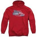 Chevy Hoodie See The USA Chevrolet Red Sweatshirt Hoody