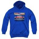 Chevy Kids Hoodie 1957 Bel Air Grille Royal Blue Youth Hoody