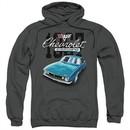 Chevy Kids Hoodie Blue Classic Camaro Charcoal Youth Hoody