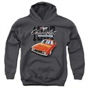Chevy Kids Hoodie Chevrolet 1967 Red Classic Camaro Charcoal Youth Hoody