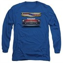 Chevy Long Sleeve Shirt 1957 Bel Air Grille Royal Blue Tee T-Shirt