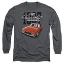 Chevy Long Sleeve Shirt Chevrolet 1967 Red Classic Camaro Charcoal Tee T-Shirt