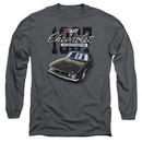 Chevy Long Sleeve Shirt Chevrolet Classic Camaro Charcoal Tee T-Shirt