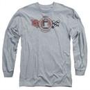 Chevy Long Sleeve Shirt Gentlemen's Racer Sports Grey Tee T-Shirt
