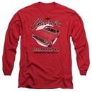 Chevy Long Sleeve Shirt Retro Camaro Red Tee T-Shirt